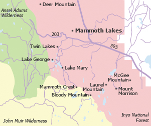 La Residence Mammoth Lakes Property Map